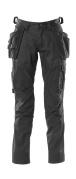 18531-442-09 Pantaloni con tasche porta-ginocchiere e tasche esterne - nero