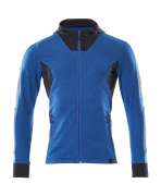 18584-962-91010 Felpa con cappuccio con chiusura lampo - azzurro/blu navy scuro