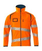 19002-143-1444 Giacca Softshell - arancio hi-vis/petrolio scuro