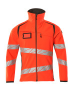 19002-143-22218 Giacca Softshell - rosso hi-vis/antracite scuro