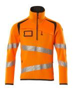 19005-351-1418 Maglione con mezza cerniera - arancio hi-vis/antracite scuro