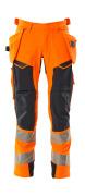 19031-711-14010 Pantaloni con tasche esterne - arancio hi-vis/blu navy scuro