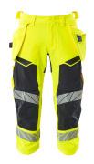 19049-711-14010 ¾  Pantaloni con tasche esterne - arancio hi-vis/blu navy scuro