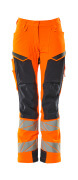 19078-511-14010 Pantaloni con tasche porta-ginocchiere - arancio hi-vis/blu navy scuro