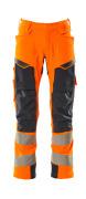 19079-511-14010 Pantaloni con tasche esterne - arancio hi-vis/blu navy scuro