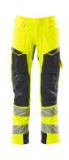 19079-511-14010 Pantaloni con tasche porta-ginocchiere - arancio hi-vis/blu navy scuro