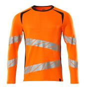 19081-771-14010 Maglietta, a maniche lunghe - arancio hi-vis/blu navy scuro