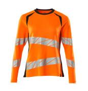 19091-771-14010 Maglietta, a maniche lunghe - arancio hi-vis/blu navy scuro