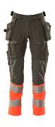 19131-711-01014 Pantaloni con tasche esterne - blu navy scuro/arancio hi-vis