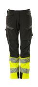 19178-511-01014 Pantaloni con tasche porta-ginocchiere - blu navy scuro/arancio hi-vis