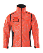 19202-291-22210 Giacca Softshell - rosso hi-vis/blu navy scuro