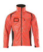 19202-291-22218 Giacca Softshell - rosso hi-vis/antracite scuro