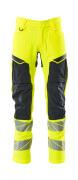 19479-711-14010 Pantaloni con tasche porta-ginocchiere - arancio hi-vis/blu navy scuro
