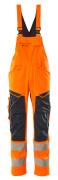 19569-236-14010 Salopette con tasche porta-ginocchiere - arancio hi-vis/blu navy scuro