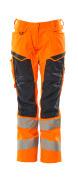 19578-236-14010 Pantaloni con tasche porta-ginocchiere - arancio hi-vis/blu navy scuro