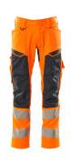 19579-236-14010 Pantaloni con tasche porta-ginocchiere - arancio hi-vis/blu navy scuro