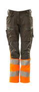 19678-236-01014 Pantaloni con tasche porta-ginocchiere - blu navy scuro/arancio hi-vis