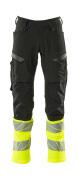 19879-711-01017 Pantaloni con tasche porta-ginocchiere - blu navy scuro/giallo hi-vis