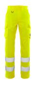 20859-236-17 Pantaloni con tasche sulle cosce - giallo hi-vis