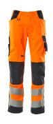 20879-236-14010 Pantaloni con tasche porta-ginocchiere - arancio hi-vis/blu navy scuro