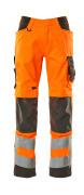 20879-236-1418 Pantaloni con tasche porta-ginocchiere - arancio hi-vis/antracite scuro