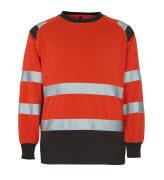 50110-854-A49 Felpa - rosso hi-vis/antracite scuro