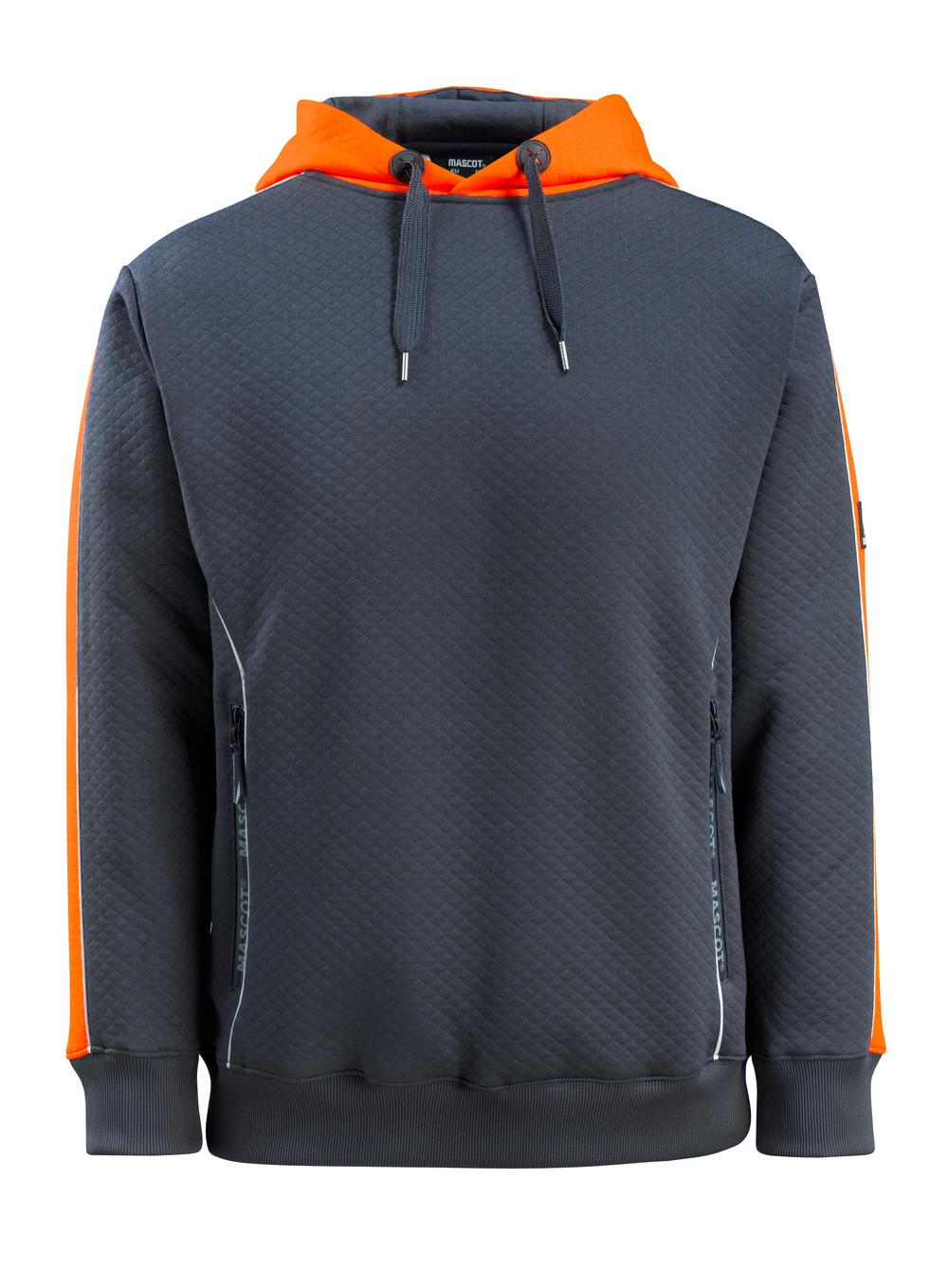 50124-932-01014 Felpa con Cappuccio - blu navy scuro/arancio hi-vis