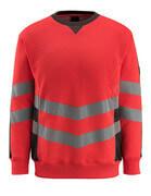 50126-932-22218 Felpa - rosso hi-vis/antracite scuro