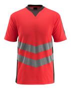 50127-933-22218 Maglietta - rosso hi-vis/antracite scuro