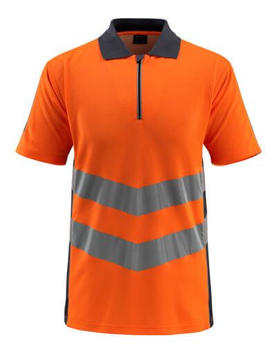 50130-933-14010 Polo - arancio hi-vis/blu navy scuro
