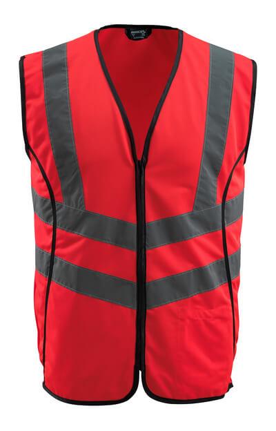 50145-982-222 Gilet ad alta visibilità - rosso hi-vis