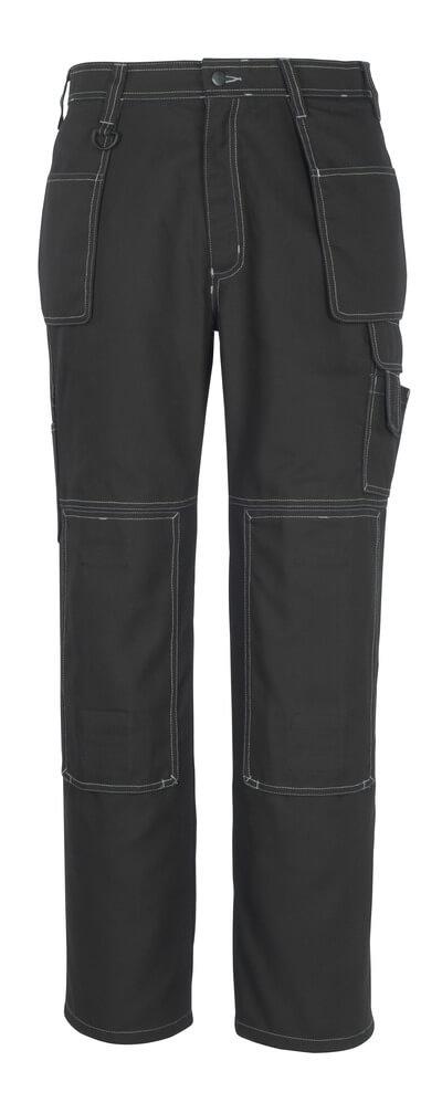 50194-884-09 Pantaloni con tasche porta-ginocchiere e tasche esterne - nero