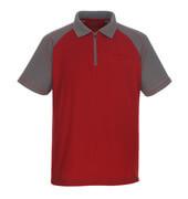 50302-260-02888 Polo con tasca sul petto - rosso/antracite