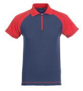50302-260-12 Polo con tasca sul petto - blu navy/rosso