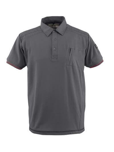 50351-833-09 Polo con tasca sul petto - nero
