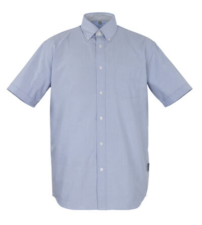 50377-887-B13 Camicia, a maniche corte - azzurro oxford