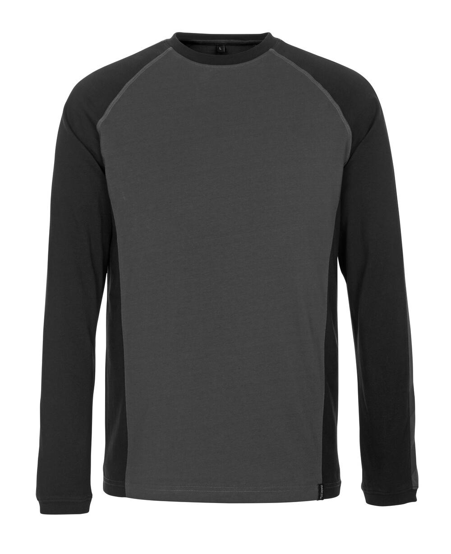 50504-250-1809 Maglietta, a maniche lunghe - antracite scuro/nero