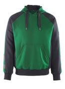 50508-811-0309 Felpa con Cappuccio - verde/nero