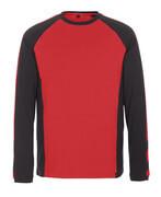 50568-959-0209 Maglietta, a maniche lunghe - rosso/nero