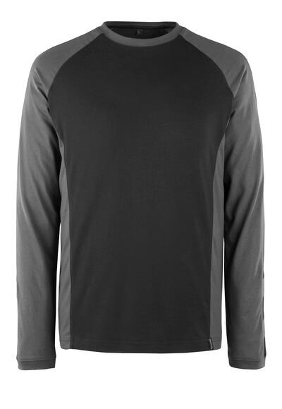 50568-959-1809 Maglietta, a maniche lunghe - antracite scuro/nero