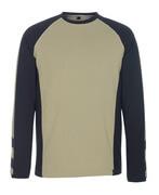 50568-959-5509 Maglietta, a maniche lunghe - kaki chiaro/nero