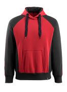 50572-963-0209 Felpa con Cappuccio - rosso/nero