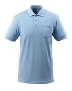 51586-968-71 Polo con tasca sul petto - blu chiaro