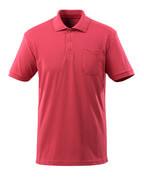 51586-968-96 Polo con tasca sul petto - rosso lampone