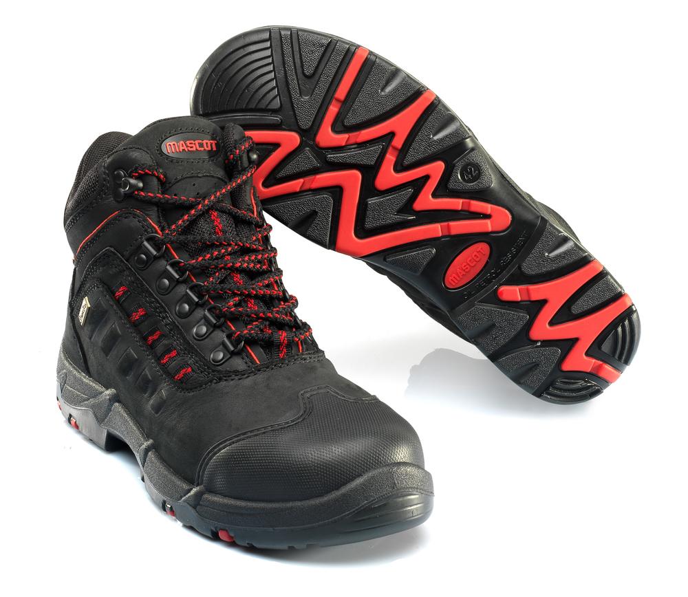 F0025-901-0902 Stivali antinfortunistiche - nero/rosso