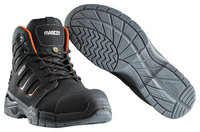 F0116-937-09140 Stivali antinfortunistiche - nero/arancio scuro