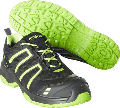 F0124-773-0917 Scarpe antinfortunistiche - nero/verde lime