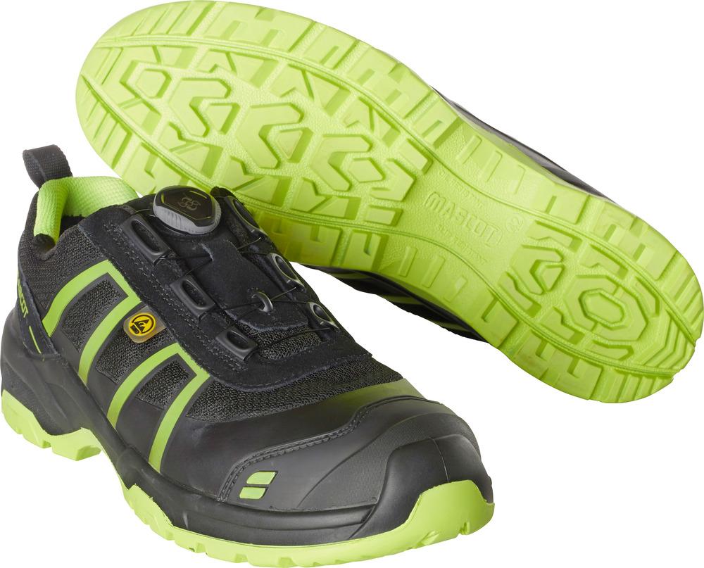 F0125-773-0917 Scarpe antinfortunistiche - nero/verde lime