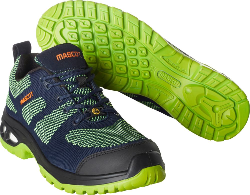 F0131-849-01033 Scarpe antinfortunistiche - blu navy scuro/verde lime